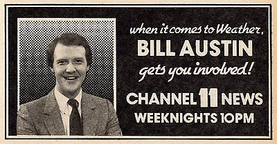 1983 Kttv Tv News Ad Bill Austin Weather In Los Angeles Channel 11