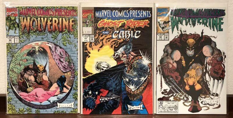 Lot Of 6 Marvel Comics Presents #85 89 90 91 92 100 Sam Kieth Wolverine-VF/NM