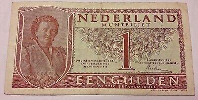1 Gulden 1949 Nederlands Gulden Pays bas muntbiljet