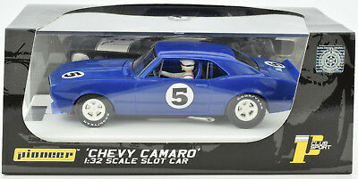 Pioneer 1968 Chevy Camaro Reflex Blue J-Code Prototype 1/32 Scale Slot Car