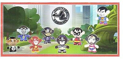 Komplettsatz Justice League mit allen 8 BPZ