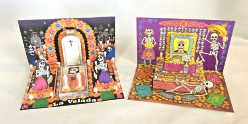 2 MINI ALTARS !     DAY OF THE DEAD,      DIA DE MUERTOS ,      ONLY HERE !