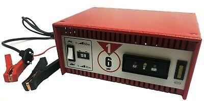ABSAAR Batterieladegerät Auto Werkstatt Ladegerät 6 Amp. 12V Motorrad PKW 365132 (Motorrad Amp)