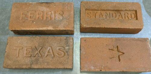 4 Antique Texas Brick: Standard, Ferris, Star & Texas