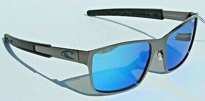 O'NEILL Clipper POLARIZED Sunglasses Matte Gunmetal/Blue Mirror $79 Surf/Beach