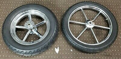 Harley Invader Wheels Vintage Front 19in Rare Rear 15in with Tires