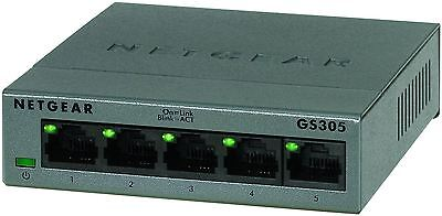 NETGEAR 5-Port Gigabit Metal Ethernet Desktop Wallmount Switch Networks