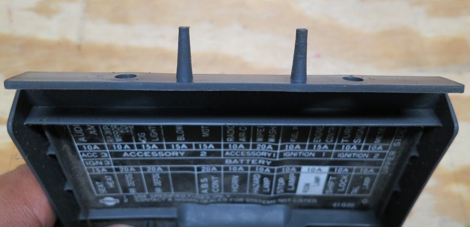 Used Nissan Dash Parts For Sale Page 14 1987 Pulsar Fuse Box Hardbody D21 Panel Cover Lid Door Pathfinder Gray Grey