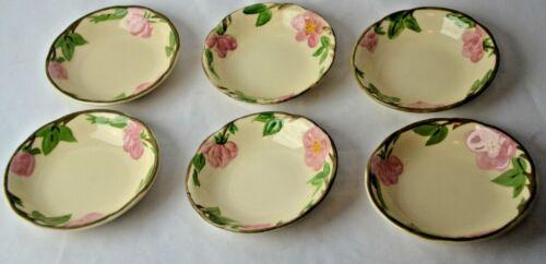 """Vintage FRANCISCAN DESERT ROSE qty 6 Fruit Bowls USA 5.25"""""""
