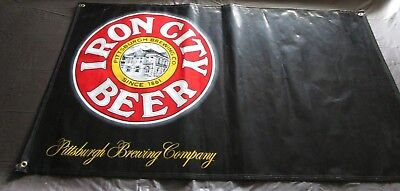 VINTAGE IRON CITY BEER VINYL BANNER PITTSBURGH BREWING COMPANY MAN CAVE - Party City Banners
