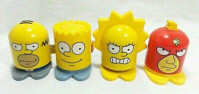 Simpsons Burger King Super Heroes Toy Lot Homer Bart Lisa Radioactive Man 2013 - Radioactive Superhero
