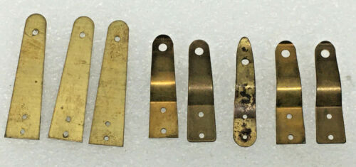 8 - Brass Door Latches For Kitchen Or Wall Clock Parts