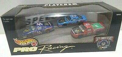 1998 Hot Wheels Pro Racing Players INC 50th Anniversary NASCAR 3 Car Pack