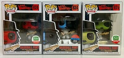 Funko Pop 2019 The Warriors Baseball Fury Set 824 Toy Tokyo NYCC Blue,Green,Red