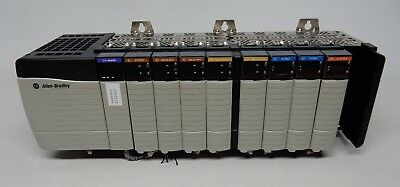 Allen Bradley Control Logix 10 Slot Rack W 1756-pa75a Ethernetip Dc In Out