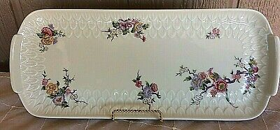 - LIMOGES FRANCE OBLONG CAKE PLATE TRAY WITH BIRDS