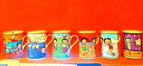 Danbury Mint Kings Features Betty Boop Set of 6 Fine Porcelain Coffee Cups Mugs