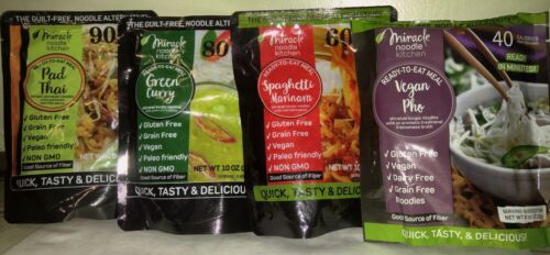 Miracle Noodle READY TO EAT MEALS Pack of 4-Low Carb Gluten Free Keto Paleo Diet