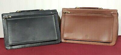 2 Levenger Leather Executive Portfolio Zippered Casebriefolio Expandable