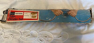 Vintage Sears Craftsman Spring Type External Tube Bender Set No. 9-55411