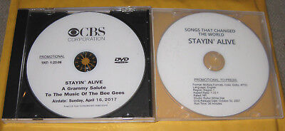 THE BEE GEES, 2 DVDs, RARE CONCERT (2017) + RARE DOCUMENTARY (2007) promo items.