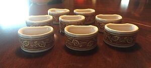 2 SETS OF NAPKIN RINGS