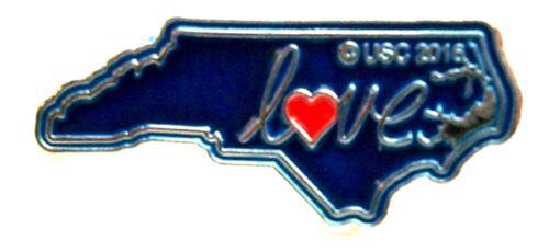 North Carolina Love State Outline Hat Tac or Lapel Pin