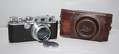 Leica III - 1934 Camera with Leica Summar 50mm f/2.0 lens + case - vgc