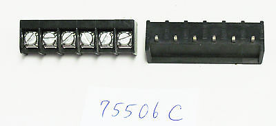1x Beau Vernitron 75506 6 Position Single Row Terminal Block 20a 250v Pc Term