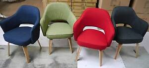 New Replica Hille Upholstered Kim Tub Arm Chairs Timber Scandi Melbourne CBD Melbourne City Preview