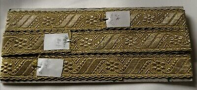 TOP QUALITY VINTAGE GOLD METALLIC ECCLESIASTICAL BRAID