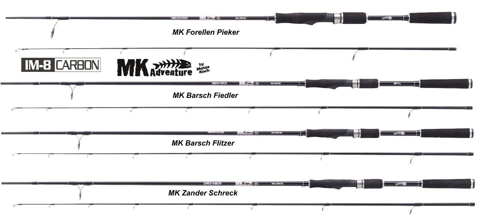 BALZER Matze Koch Adventure IM8 Modell 2016 MK Barsch Flitzer 20 2,7m Steckrute