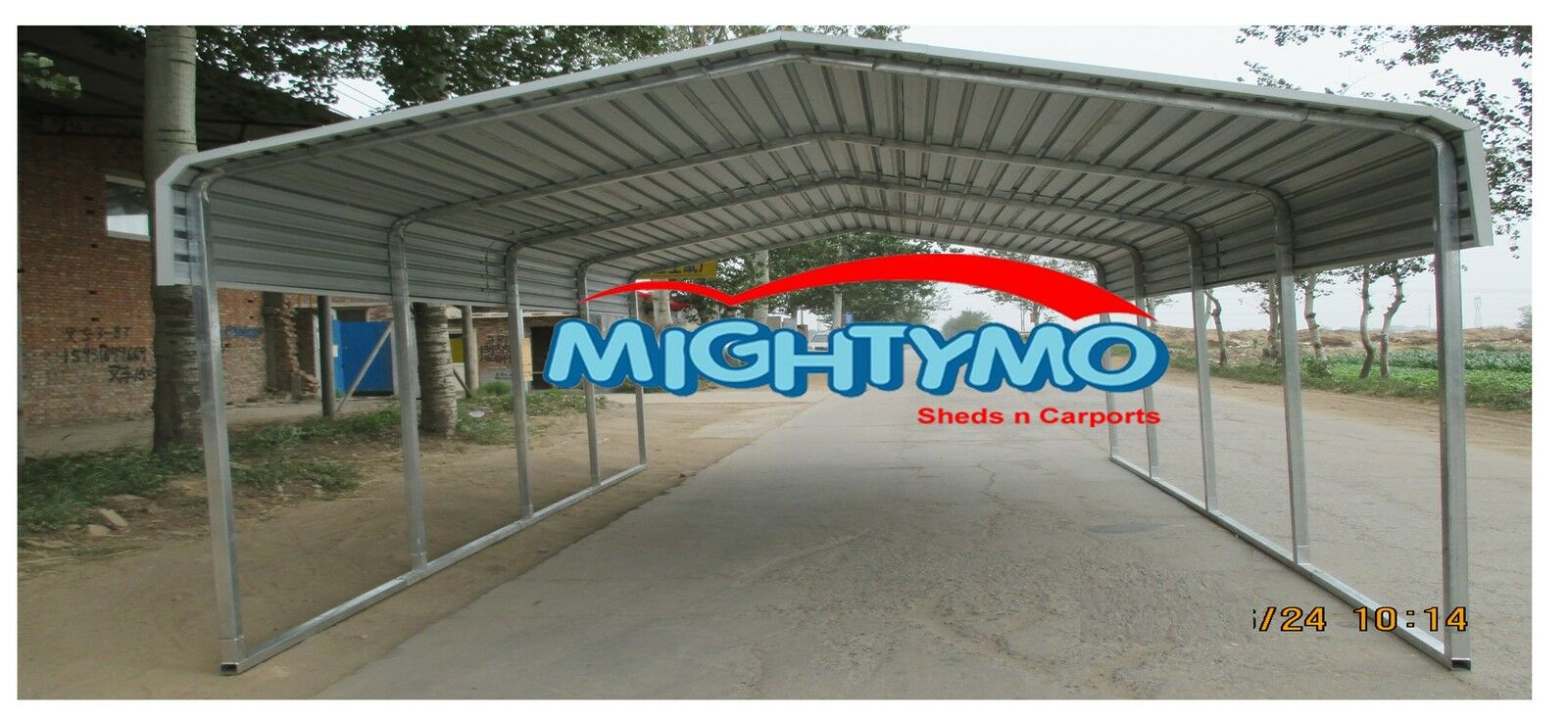 Large steel carport shelter 6x6m yard backyard shelters for Carport 6x9m