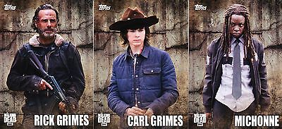 The Walking Dead Season 5 - Characters Profiles Insert Chase Trading Card Set