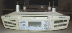SONY ICF-CD533 UNDER CABINET AM FM RADIO WITH CD FOR KITCHEN, OFFICE, LOOK!