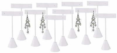 Lot Of 12 White Earring Display White Stand Earring Tree Earring Stand 5 34h