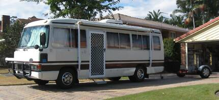 1988 TOYOTA COASTER MOTORHOME  with  CAR CADDY Albany Creek Brisbane North East Preview