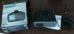 iHome bluetooth wireless speaker IBT22 BX dual alarm clock with USB charging