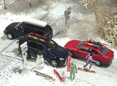 Busch 6004 Winter-Set  für Modellautos ( Ski , Snowbords , Dachbox etc. )
