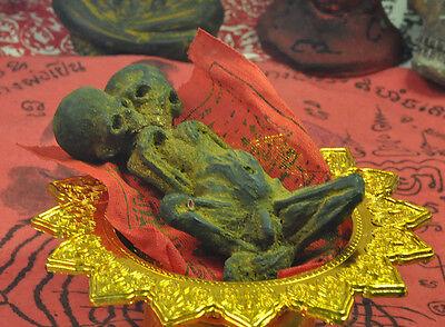 Thai Amulet Talisman Big 2 Head Kuman Thong Ghost Baby Doll Black Magic Voodoo