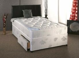 **14-DAY MONEY BACK GUARANTEE!**- Kingsize Bed with Dual-Sided Deep Quilt Orthopaedic Mattress