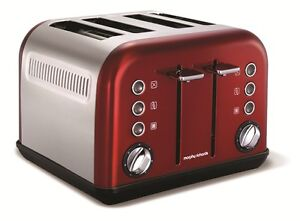 Morphy Richards 242004 Accents Four Slice Toaster - Red