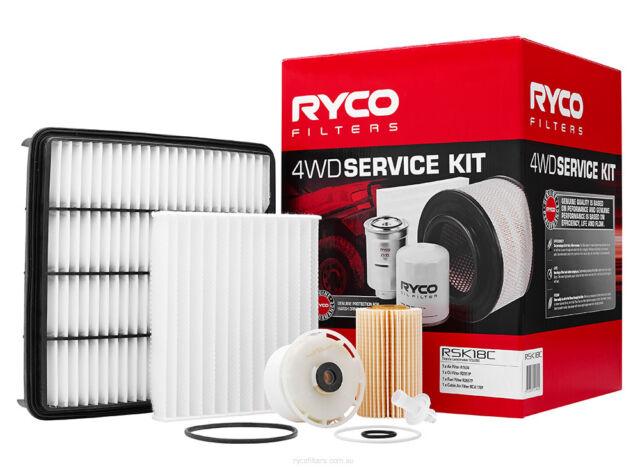 Ryco 4x4 Filter Service Kit RSK18C fits Toyota Land Cruiser 200 Series 4.5 D-...