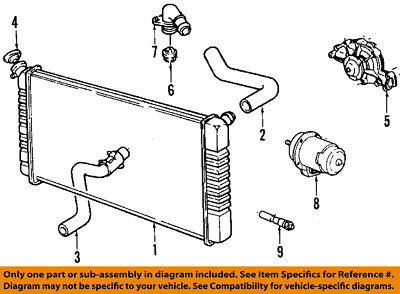 Cadillac GM OEM 87-92 Allante-Engine Water Pump 12369484