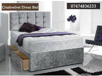Ceush velvet divan bed with mattress NJ