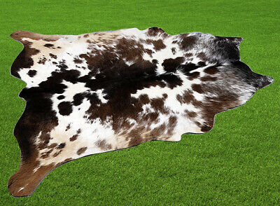 """100% New Cowhide Rugs Area Cow Skin Leather (44"""" x 46"""") Cow hide SA-4365"""