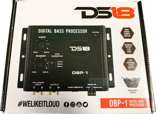 DS18 DBP-1 Car Digital Bass Boost Driver Reconstruction Processor Sub Epicenter