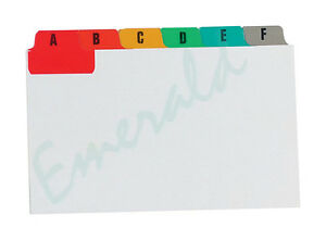 Multi-Coloured-A-Z-Index-Record-Guide-Cards-8-x-5-203-x-127-Same-Day-Dispatch