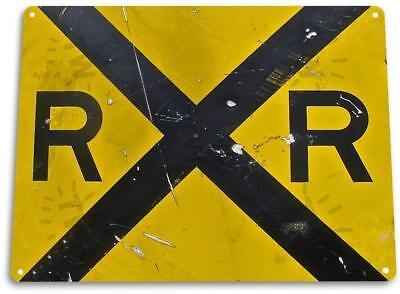 �Rail Road� Metal Decor Station Tracks Street Crossing Shop Garage Sign