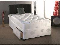 🚚🚛 BRAND NEW 🚚New 4ft6/4ft / 5ft DOUBEL Divan Bed w 9 inch Semi Orthopedic Mattress